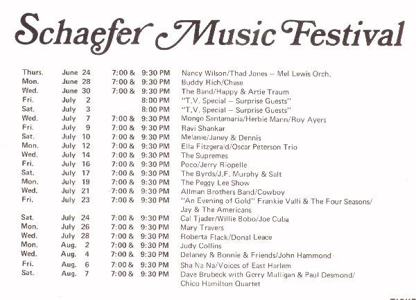 schaefer music festival